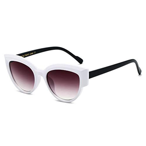 ZRTYJ Sonnenbrillen Fashion Luxury White Cat Eye Sonnenbrille Frauen Markendesigner Vintage Female Star Gradient Sonnenbrille Retro