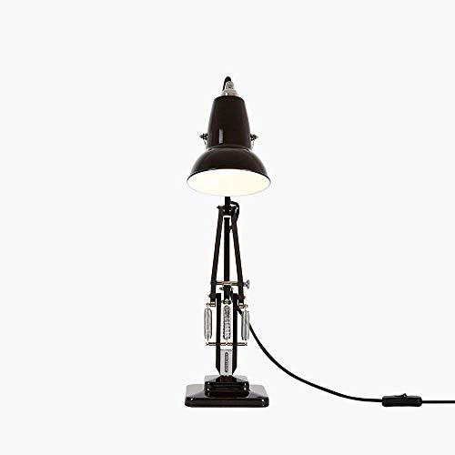Anglepoise® 31582 Lampe de Bureau, Abat-Jour en Acier, Noir, Hauteur 52cm