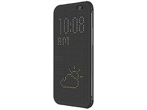 HTC Dot Flip Hülle Cover Case für HTC One (M8) - Grau (M8 Cover Htc Handy)
