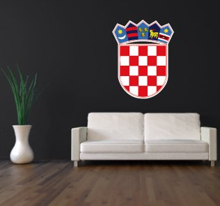 Preisvergleich Produktbild Wandtattoo KROATIEN Hrvatska Croatia
