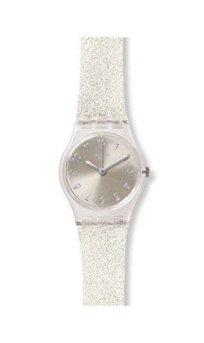Swatch Damenarmbanduhr Silver Glistar Too LK343E
