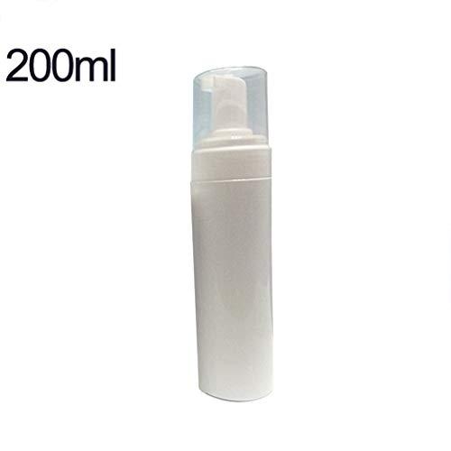 Kinshops 200ml Tragbare, leichte Reinigungs-Mousse-Flasche Leere, nachfüllbare Plastik-Pumpflasche Fläschchen Trip Pot Schaumseife Flüssige Mousse, weiß