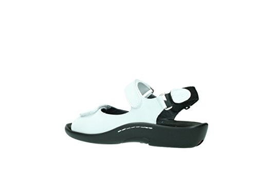Wolky Sandalen 1300 Salvia 310 weiß Leder
