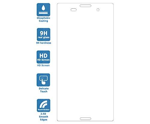 PREMYO Sony Xperia Z3 Panzerglas. Sony Xperia Z3 Displayschutzfolie mit Härtegrad 9H und abgerundeten Ecken 2,5D. Sony Xperia Z3 Schutzglas - 2