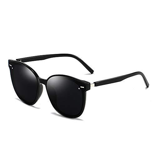 YIWU Brillen & Zubehör Neue Sonnenbrille Koreanische Version GM Damen Sonnenbrille Metall Reis Nagel Sonnenbrille Retro Runde Rahmen Männer Brille Großhandel (Color : 1)