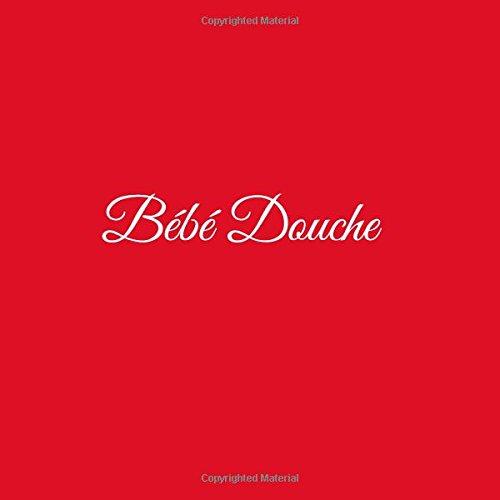 Bébé Douche ..: Livre d'or Bébé Douche Baby Shower pour fête de naissance 21 x 21 cm Accessoires decoration idee cadeau fête de naissance bébé Couverture Rouge