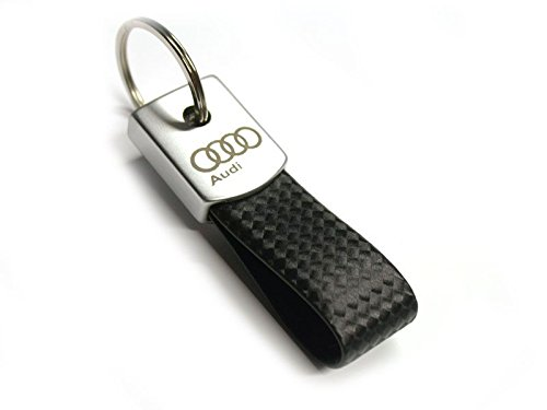 audi-in14097-satin-leather-strap-keyring-black-silver