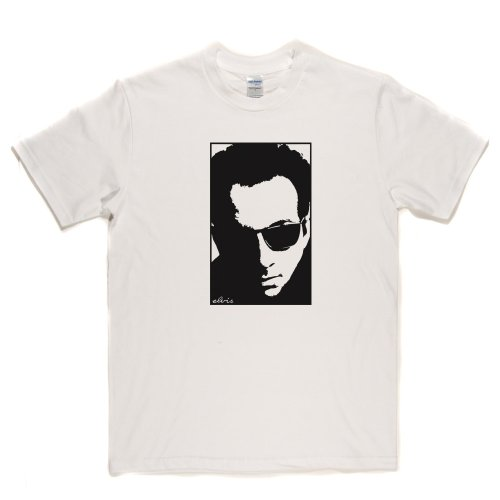 Elvis Costello Portrait Brit Rock English Punk New Wave T-shirt Weiß