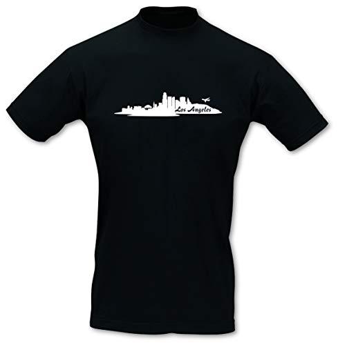 Samunshi® T-Shirt Los Angeles Skyline LA, Imperial Größe 4XL, schwarz/weiß