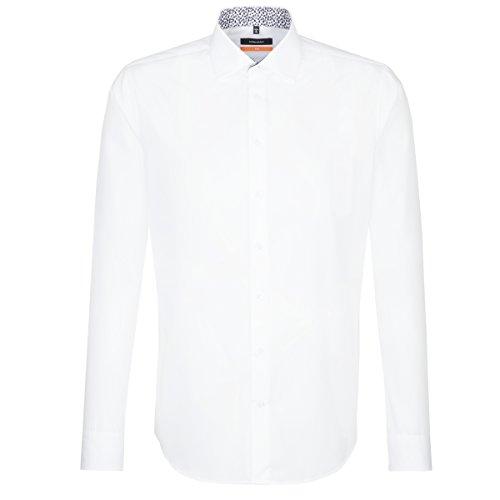 Seidensticker Herren Businesshemd Slim Extra Langer Arm mit Kent Kragen Bügelfrei Weiß (Weiß 1), 42