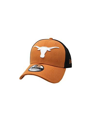 Texas Longhorns New Era Verstellbarer Strapback Mütze NCAA 9Forty Curve Brim Caps 940, Black/Burnt Orange, Einheitsgröße