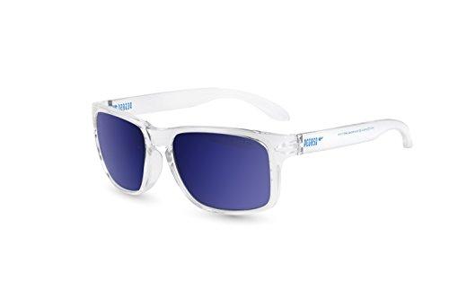 Pegaso Rocky, Sonnenbrille Unisex, weiß/Spiegel Blau Revo, 55
