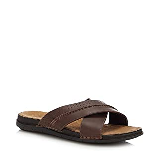 Mantaray Men Brown 'Adriatic 3' Flip Flops 11