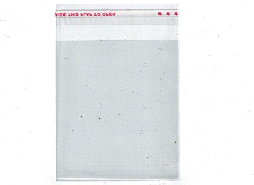 Foto de 100pieza plástico bolsillos bolsas transparente con auto-adhesivos cierre 7x 8cm