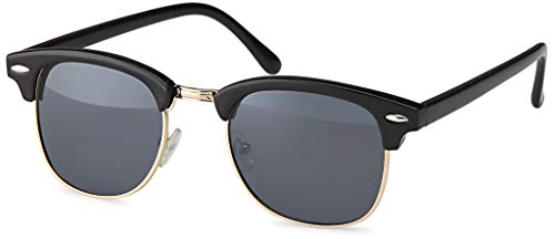 UVprotect retro Horn Optik Design Sonnenbrille - UV400 (schwarz)