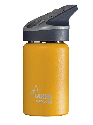 Laken Jannu Botella Térmica Acero Inoxidable 18/8 y Doble Pared de Vacío, Unisex adulto, Amarillo, 350 ml