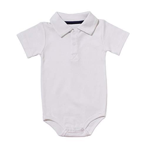 0-24M Neugeborene Babykleidung,Kleinkind Jungen Kurzarm Gentleman Kleidung Baby Sommer Outfit Baby Schlafanzug(Weiß,3-6 Monate) -