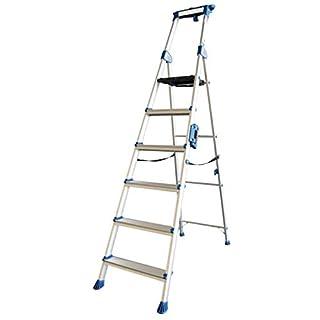 ALUMEXX UP 6-stufige Stufenstehleiter mit extra breiten Stufen Leiter