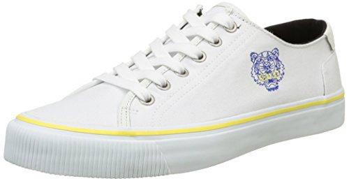 KenzoVanha - Scarpe da Ginnastica Basse Uomo , Bianco (Blanc (Tiger White)), 45