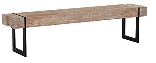 Mendler Sitzbank HWC-A15, Esszimmerbank Bank, Tanne Holz rustikal massiv ~ 180cm