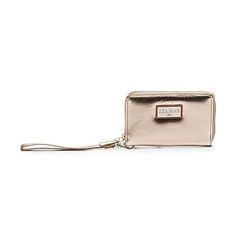 Porte-documents avec poignée, fermeture éclair, double compartiment intérieur et porte-cartes en cuir de haute qualité.