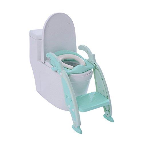 Siège De Toilette Mommy Helper Collection Tabouret De Salle De Bain Anti-dérapant Pour Enfant Bébé En Bas Âge Potty Training Étapes De Siège D'échelle De Toilette (Couleur : Bleu)