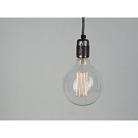 40W G125Extra grande XL globo Vintage Edison Bombilla | jaula de ardilla de filamento | E27ES tornillo