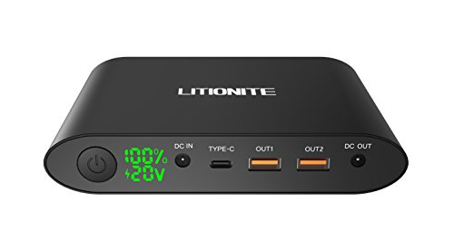 Litionite® Tanker Mini 25000mAh Power Pack Externe Batterie Akku Aluminium mit LED-Bildschirm...