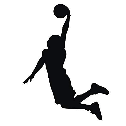 Basketball Selbstklebende Abnehmbaren Durchbrechen Die Mauer Vinyl Wandsticker/Wandgemälde Kunst Aufkleber Dekorateur, Wandtattoo Wohnzimmer Schlafzimmer Aufkleber (38x58cm) -