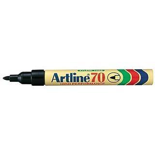 Artline 70 Permanent Marker Xylene-free Bullet Tip 1.5mm Line Black Ref A701 [Pack of 12]