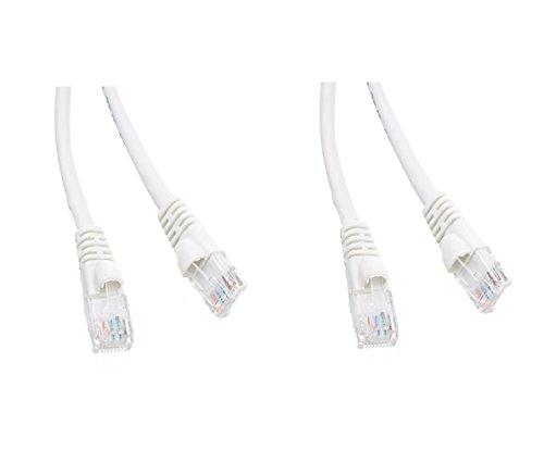 C&E CNE54091 Cat5e Crossover-Kabel mit Knickschutztülle, Grau, 3 Stück Weiß weiß 25 Feet -