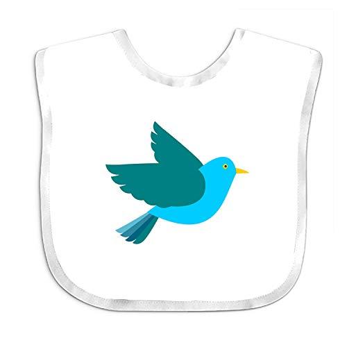 Wfispiy Cute Bird Baby Bandana Drool Bibs, Unisex Gift for Drooling and Teething, Soft and Absorbent (Bandana Bird)