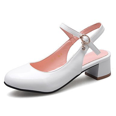 LvYuan Damen-Sandalen-Büro Kleid Party & Festivität-PU-Niedriger Absatz Blockabsatz-Andere-Schwarz Blau Rosa Weiß Beige Pink