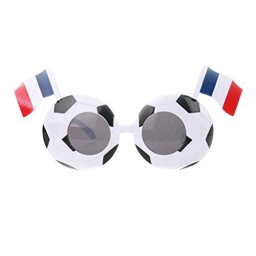 Frankreich Land Kostüm - MagiDeal Fanartikel Sonnenbrille Fan Brille zur Fußball Weltmeisterschaft 10 Länder Flagge Stil - Frankreich
