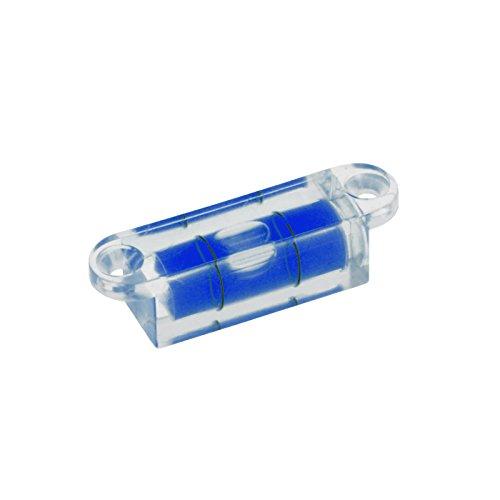 Smartfox Mini Wasserwaage horizontal mit Schraubbefestigung aus robustem Acryl mit blauer Flüssigkeit