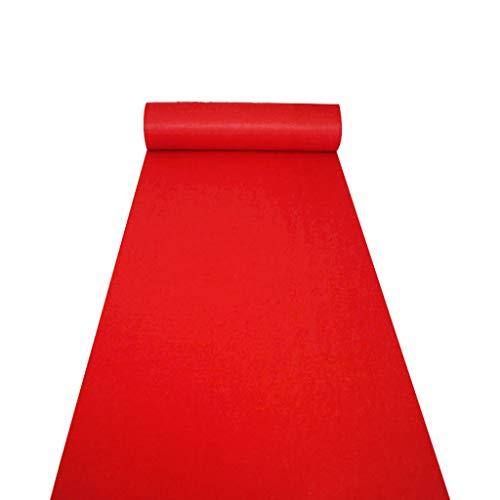 Hochzeitsgang Bodenläufer Teppich Polyester Roter Teppich Teppich Hollywood Awards Hochzeitsfeier Event Dekoration (Size : 1.2 * 50m)