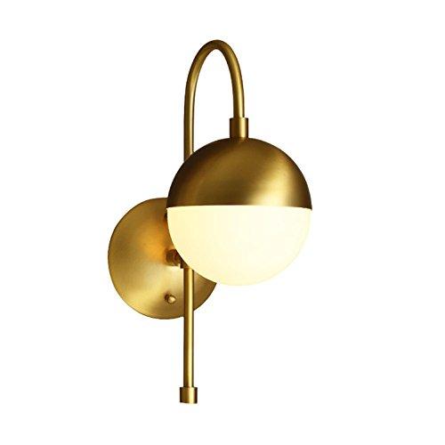 Oro toda la lámpara de pared de cobre, de nuevo moderno esfera...