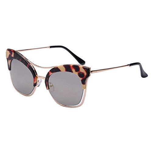 XHCP Frauen polarisierte Klassische Flieger Sonnenbrille, große größe cat Augen persönlichkeit Sonnenbrille für Frauen uv400 Schutz Fahren Strand Sommer Urlaub (Farbe: c4)