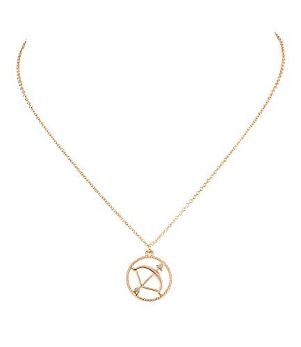 Sternzeichen, Schütze, Statement Kette, Anhänger, Symbol, Gold (758-932) ()