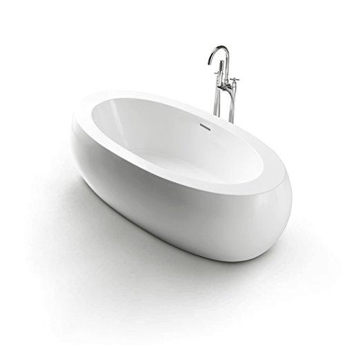 Freistehende Acrylwanne D-8008-209 weiß