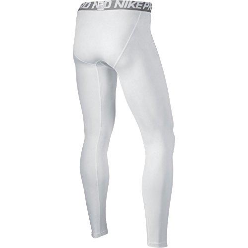 NIKE Herren Hose Cool Compression Tights Weiß (Weiß/Matte Silber/Schwarz)