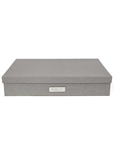 Bigso Box Of Sweden 934154141Scatola di archiviazione formato A3in cartone Grigio, 31x 43,5x 8,5cm
