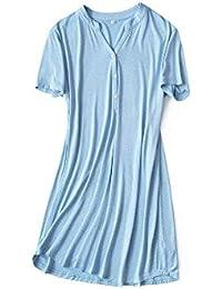 Mmllse Vestido De Lunares Camisa De Manga Corta Home Summer Loose Cómodo Casual Simple