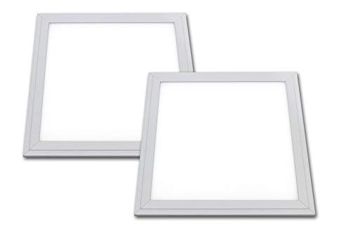 LED Panel 30x30cm wasserdicht 18 Watt sehr flach und leicht IP65 Lichtfarbe 4300K weiß 2er Pack -
