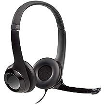 Logitech H390 - Auriculares con micrófono USB (control remoto integrado), ...
