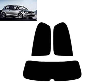 Film Solaire Prédécoupé Teinté pour-VW Golf VI 3-Portes 2008-2011 Vitres Arrière & Lunette