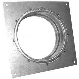 Flange carrée en métal 100mm-conduit de ventilation