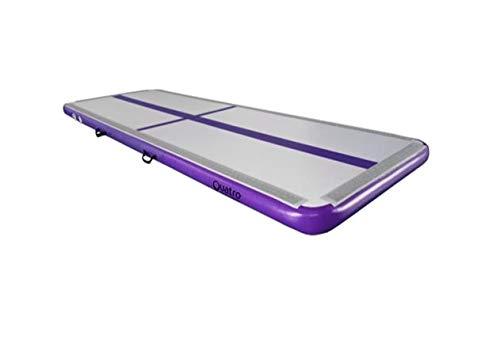 Quatro Aufblasbare Air Track Gymnastikmatte mit Pumpe, violett