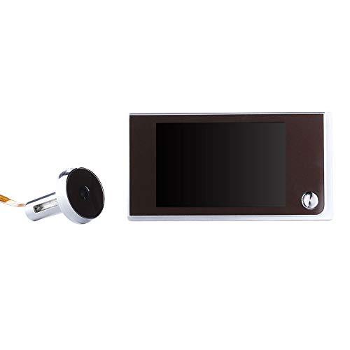 Mirilla Digital De Puerta,Mirilla Con Visor De Puerta Digital Pantalla LCD De 3,5 Pulgadas De áNgulo Amplio De 120 Pulgadas,CáMara De Seguridad Multifuncional Con Timbre De Seguridad Para El Hogar