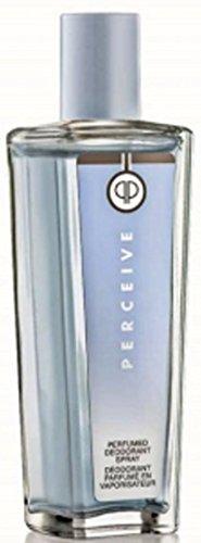 Avon Parfümiertes Body Spray (1a AVON 12450 parfümiertes Deodorant-Spray PERCEIVE --- 75 ml --- Parfümiertes Deo Körperspray --- eleganter Glasflakon)